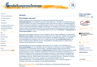 Website GenderKompetenzZentrum